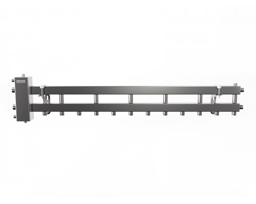 BMSS-100-7D (до 100 кВт, подкл. котла G 1¼″, 6+1 контура G 1″, матовая полировка)